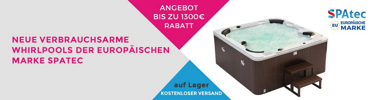Promotion in Outdoor Aussen whirlpool